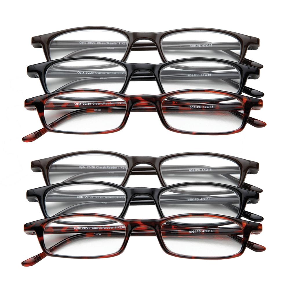 new set of 6 magnifying reading glasses 5 0 half eye style