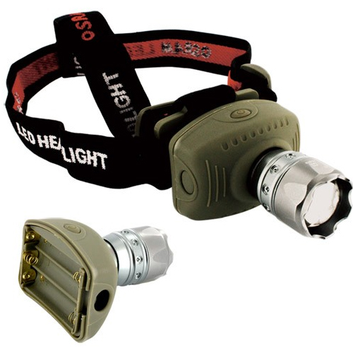 skque New Hot High Power Zoomable Zoom Cree LED Headlamp Flashlight, Brown at Sears.com