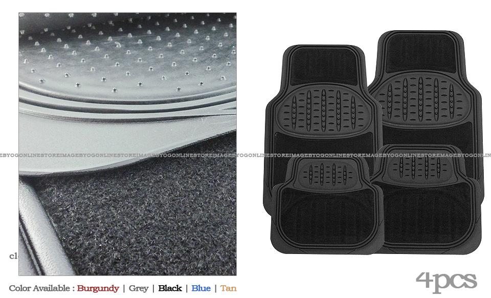 MiMax by 3A venture 4pcs premium black carpet rubber floor mats w/pad Buick compact car car at Sears.com