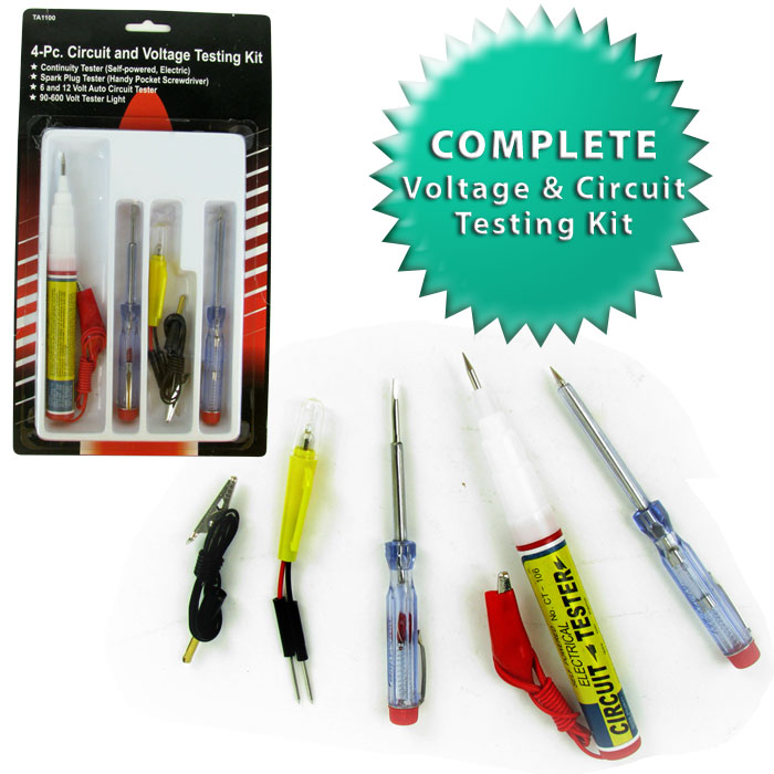4 PC Electrical Circuit and Voltage Testing Kit