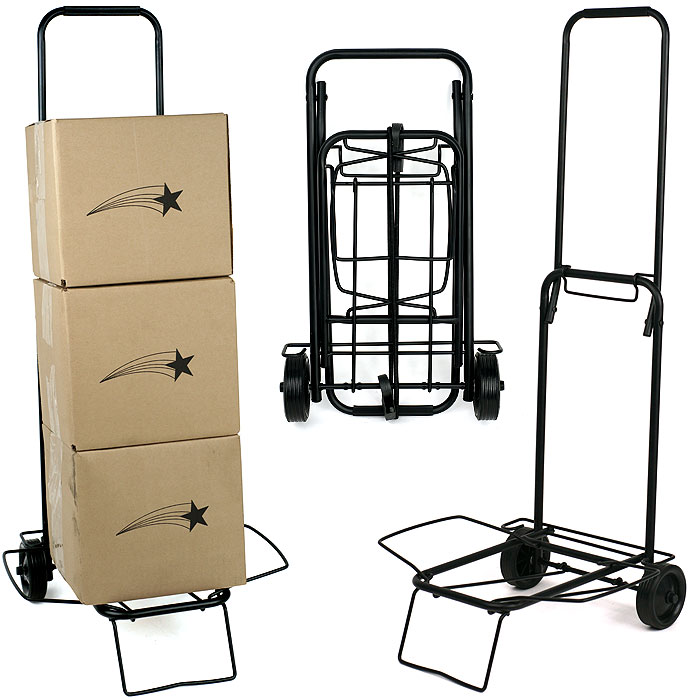 Rolling Utility Cart   80 Pound Capacity   Fold Down for Easy Storage