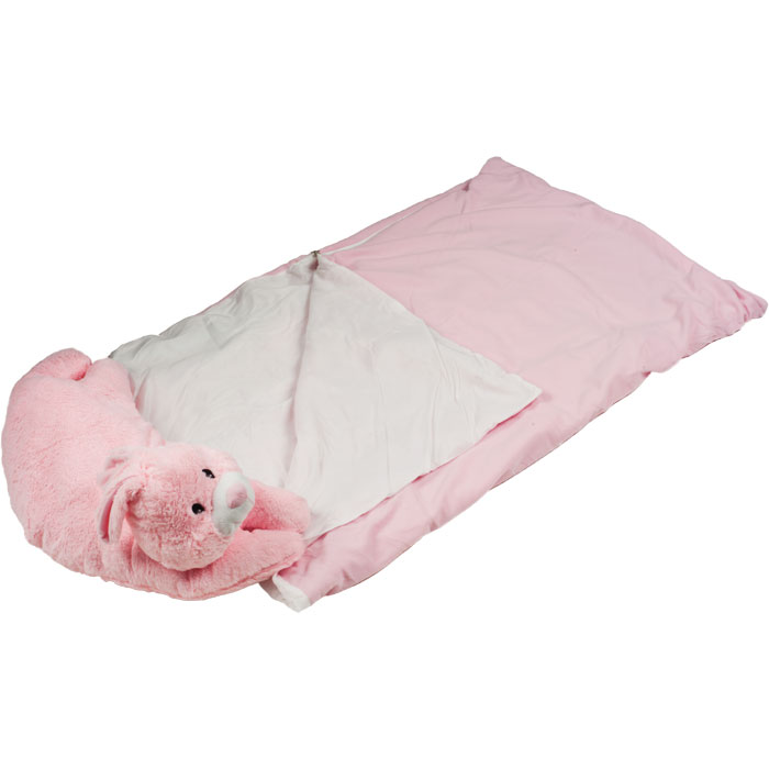 Happy Camper Sleeping Bag & Pet Pillow Combo for Kids - Bunny - Great for Travel eBay