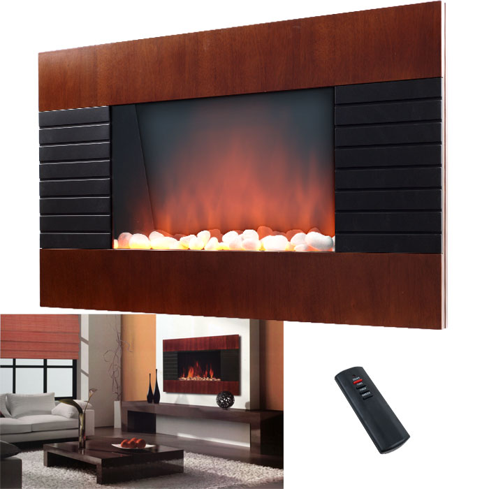 Decorative Wall Fireplace Heater with Remote