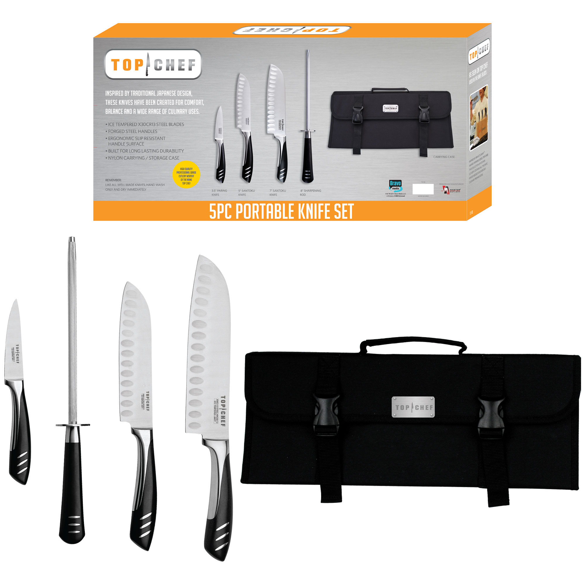 Details about Top Chef™ Basic Stainless Steel Knife Set - 5 Pieces
