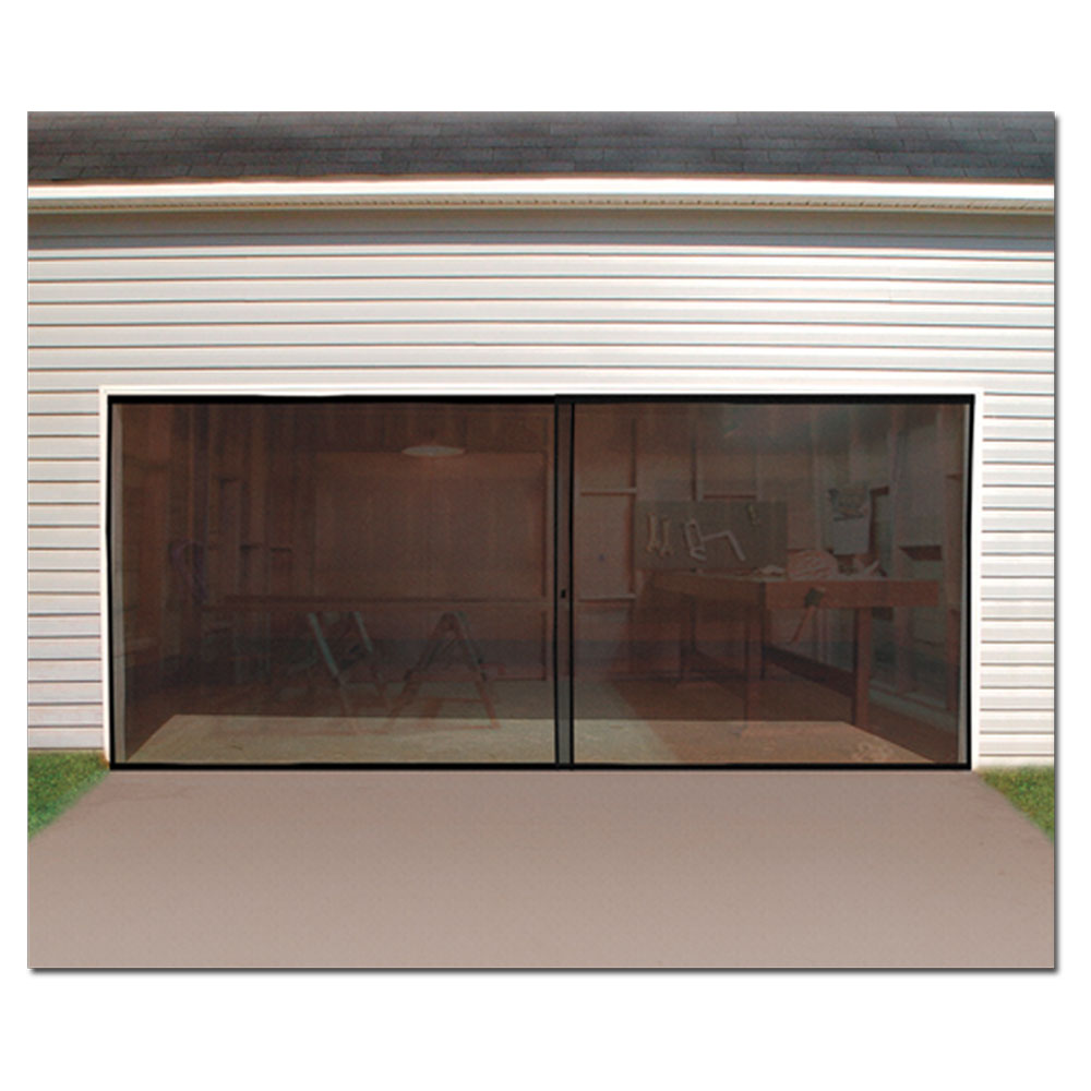 2 car garage door screen enclosure turn your garage into for Two car garage doors