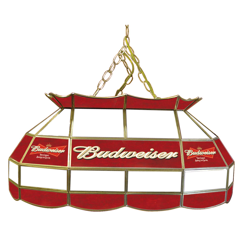 budweiser 28 inch stained glass pool table light lamp ebay. Black Bedroom Furniture Sets. Home Design Ideas