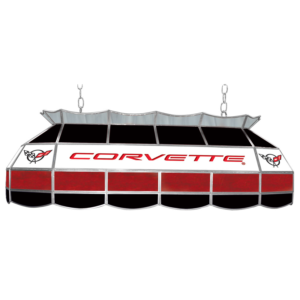 "Corvette C5 Stained Glass 40"" Light Bar Pool Table Lamp"