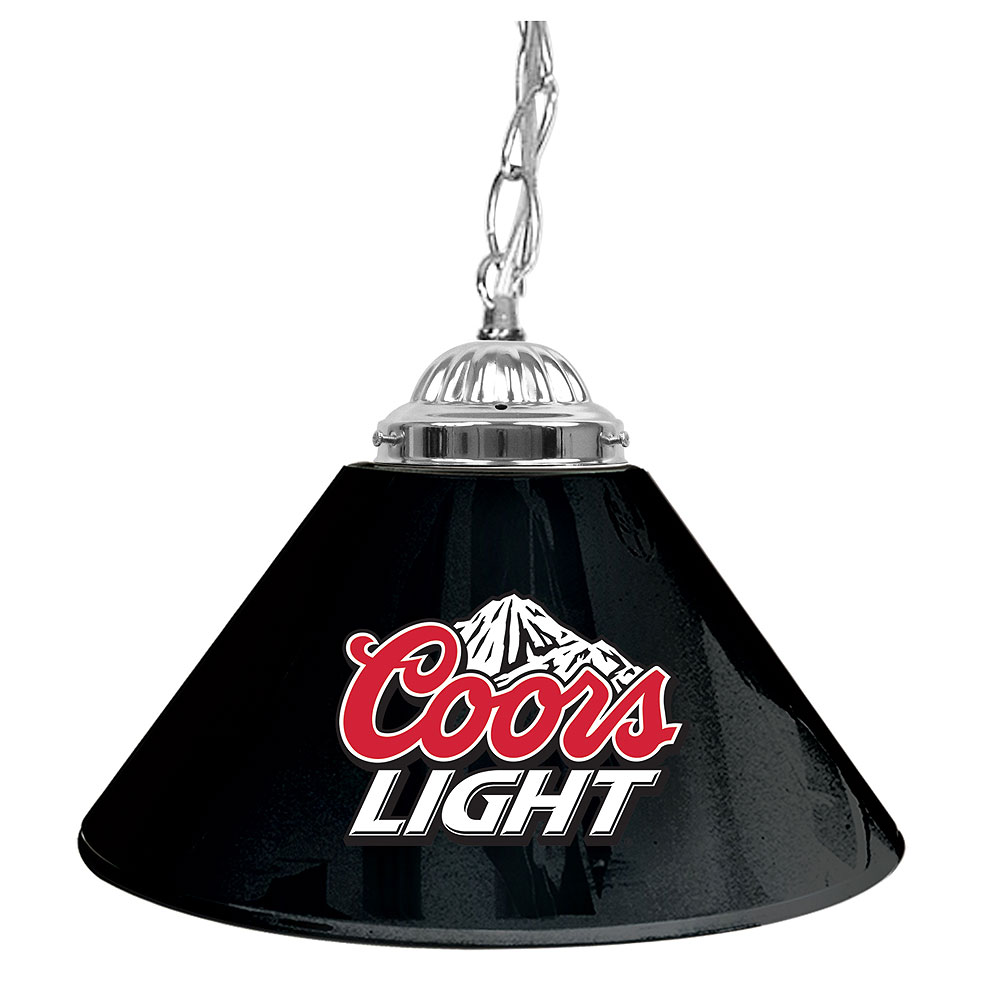 Coors Light Stained Glass Pool Table Light: Coors Light 14in Single Shade Bar Lamp Pool Table Light