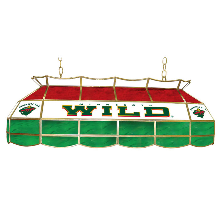 "Budweiser 40 Inch Stained Glass Pool Table Light: Minnesota Wild Stained Glass 40"" Light Pool Table Lamp"