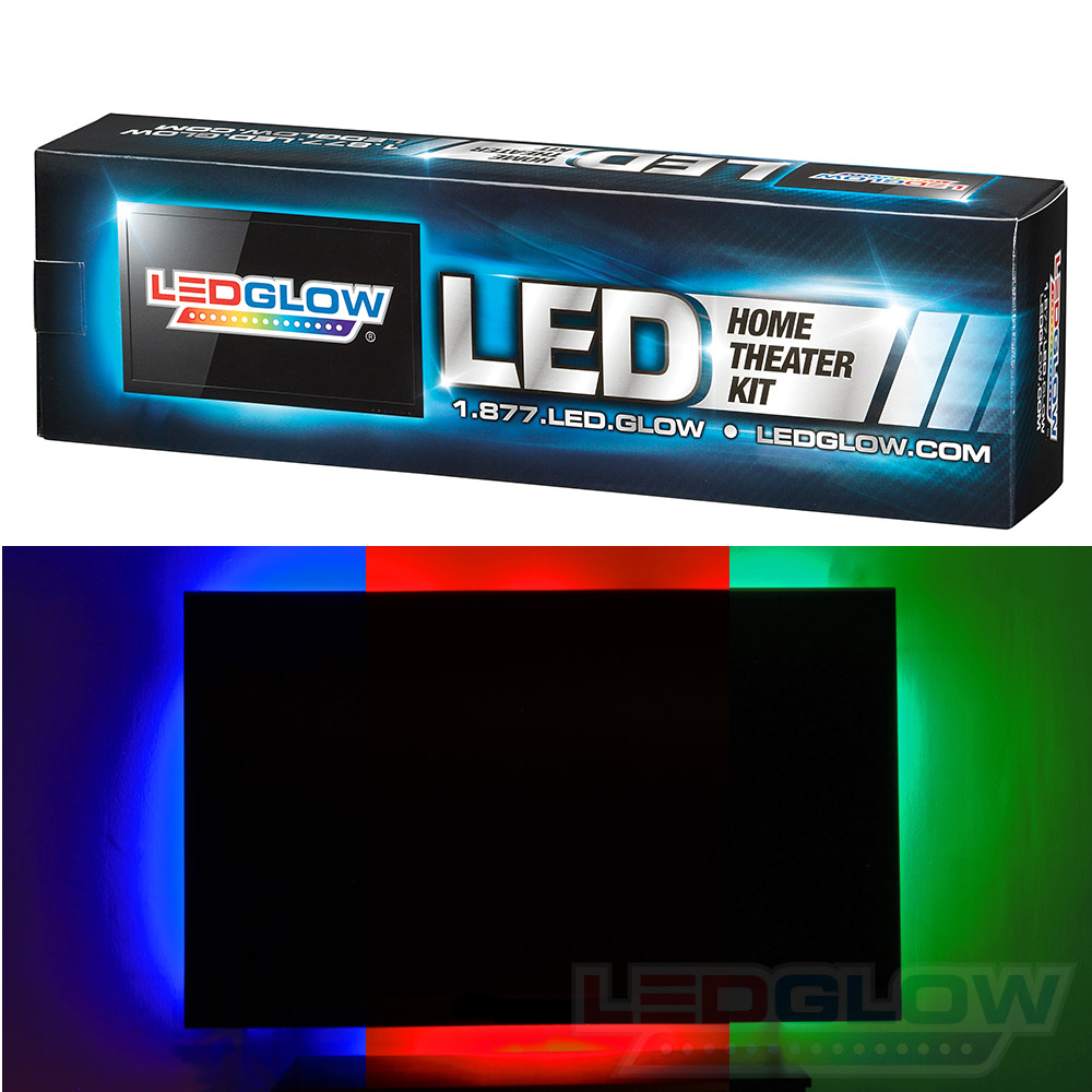 Home Theater Light Color Temperature: Ledglow 4pc Million Color Home Theater LED Ambient Accent