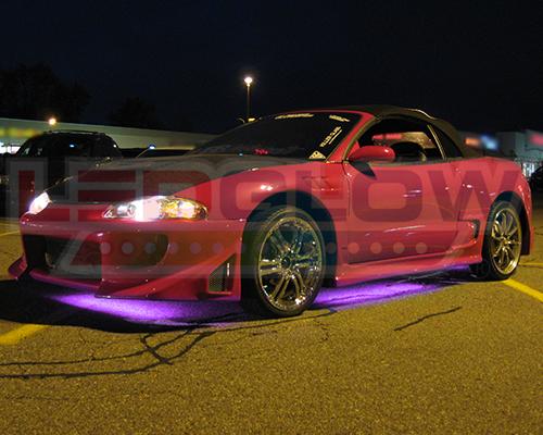 4pc Ledglow Purple Underglow Car Led Neon Lights Lighting Kit W Wireless Remote Ebay