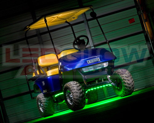 4pc Ledglow Green Led Golf Cart Kart Led Underbody Glow