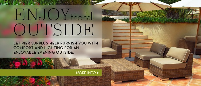 enjoy the outside with our outdoor furniture