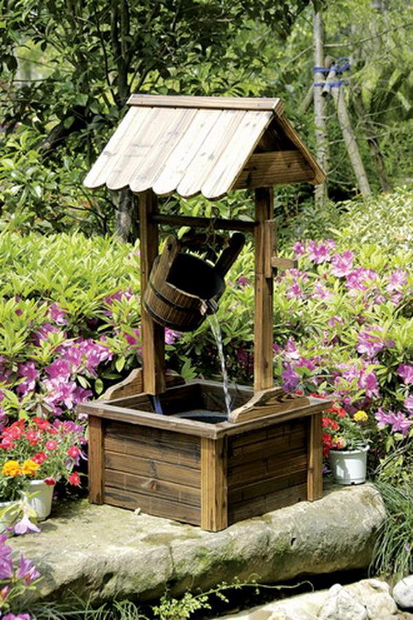 extraordinary wooden garden wishing well 16