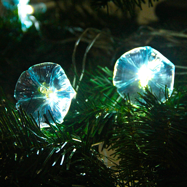 Exterior Solar String Lights : Blue Flowers Solar LED String Lights - Exterior Lights for Yard or Patio eBay