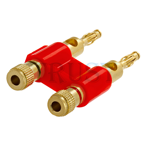 Speaker Wire End Connectors : New gold banana plug plugs audio speaker wire cable