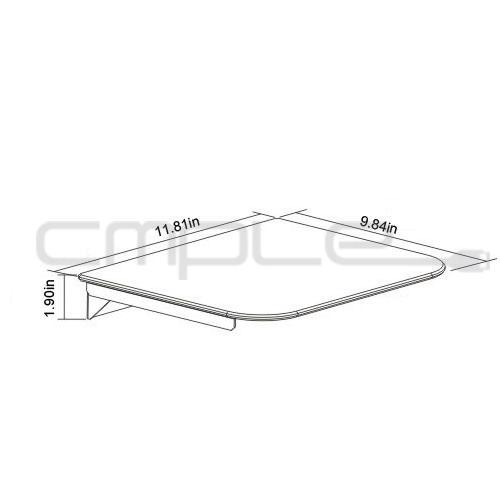 single glass shelf wall mount bracket under tv component