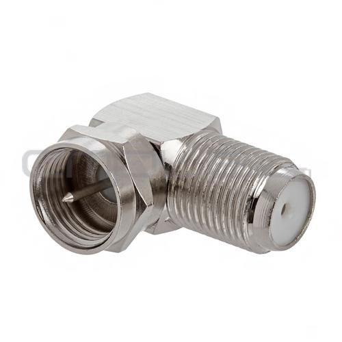 Coaxial Plug Types : F type right angle degree connector adapter plug