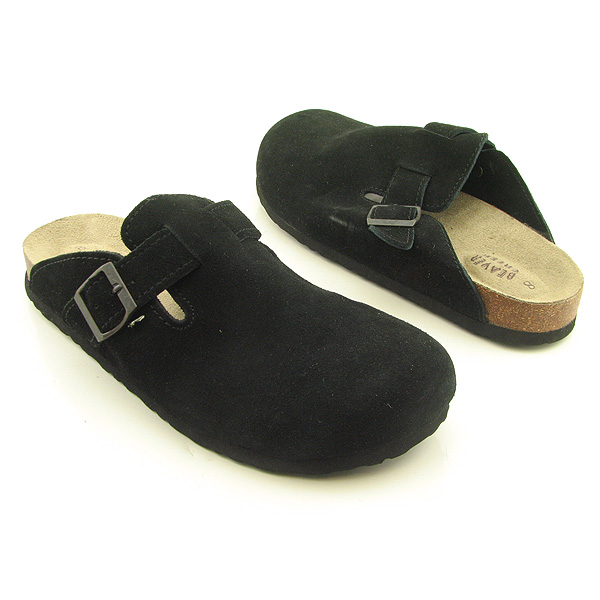 BEAVER CREEK Rerun Clogs Mules Shoes Black Womens