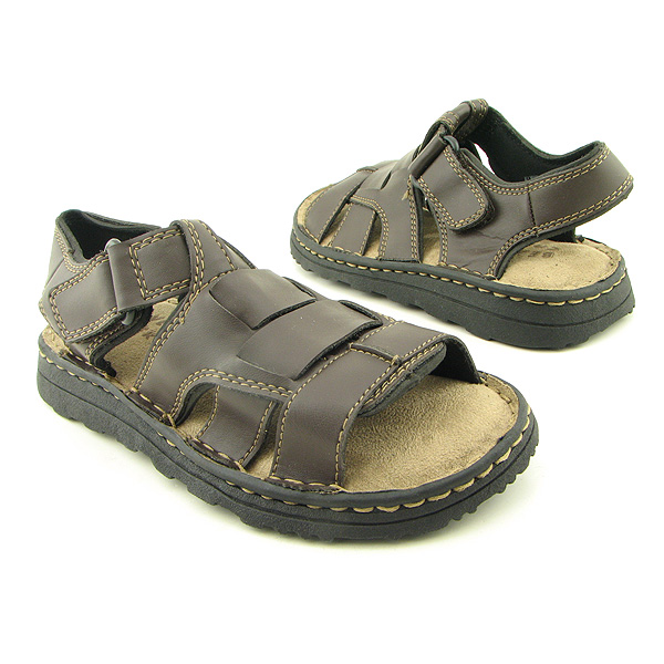 BEAVER CREEK C5828Y Sandals Shoes Brown Youth Kids Boys