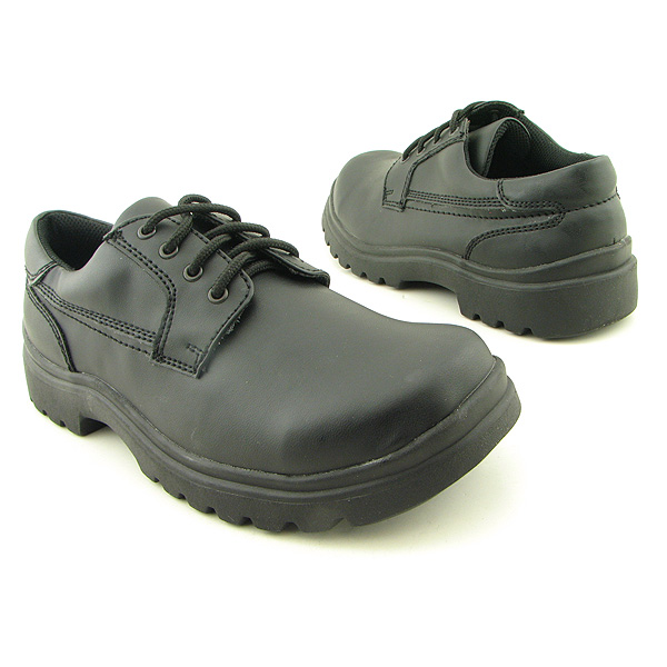 BEAVER CREEK Dusty Wide Oxfords Shoes Black Mens