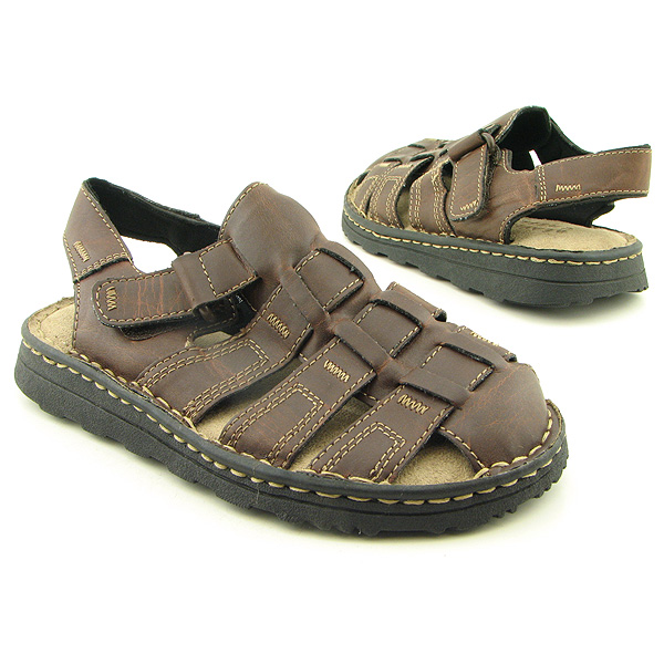 BEAVER CREEK C2880Y Sandals Shoes Brown Youth Kids Boys