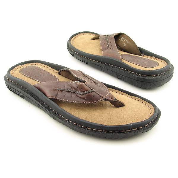 BEAVER CREEK C5237 Sandals Thongs Shoes Brown Mens