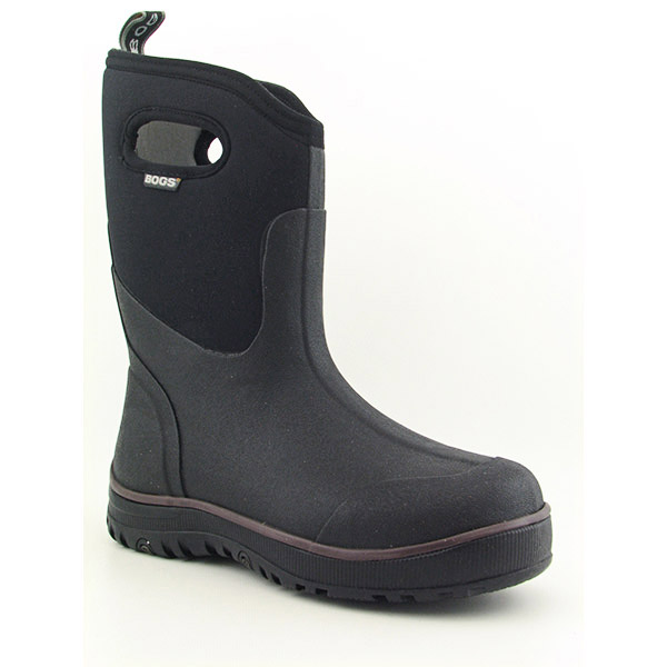 Bogs ULTRA MID Winter Shoes Black Mens