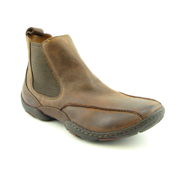 BORN Malcolm Boots Ankle Shoes Brown Mens