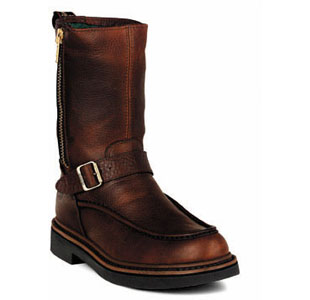 "GEORGIA G4124 10"" WP Zip Wellington Boot Brown Men SZ Wide at Sears.com"