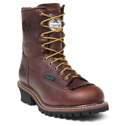 "GEORGIA G7113 8"" WP Logger Boots Work Shoe Brown Men SZ Wide at Sears.com"