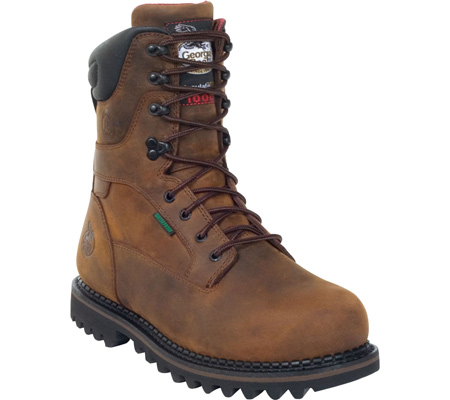 "GEORGIA G8162 8"" Arctic Toe Boot Work Shoe Brown Men SZ at Sears.com"