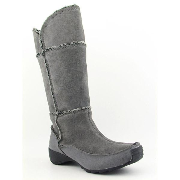 Post image for Sporto Patch Boots Knee Shoes Gray Womens