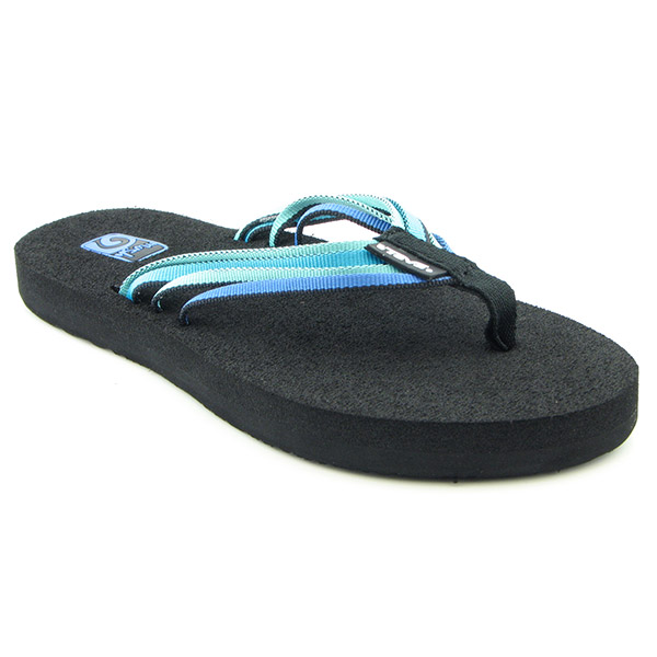 c067671c0f6199 Teva Mush Adapto Womens Sz 6 Electric Blue Multi Sandals Thongs Open ...