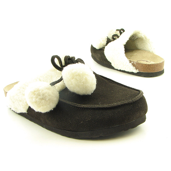 UNR8ED Barrel Clogs Mules Shoes Brown Womens