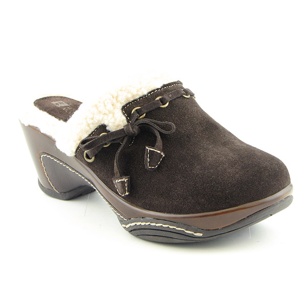 WHITE MOUNTAIN Meri Clogs Mules Shoes Brown Womens