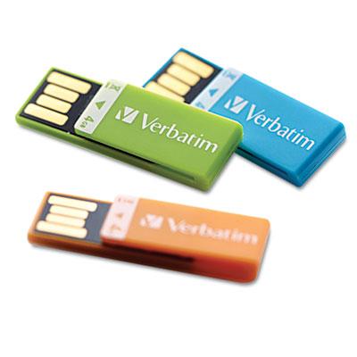 Verbatim Clip-It Usb 2.0 Flash Drive, 4G, 3-Pack: Blue, Green, Orange at Sears.com