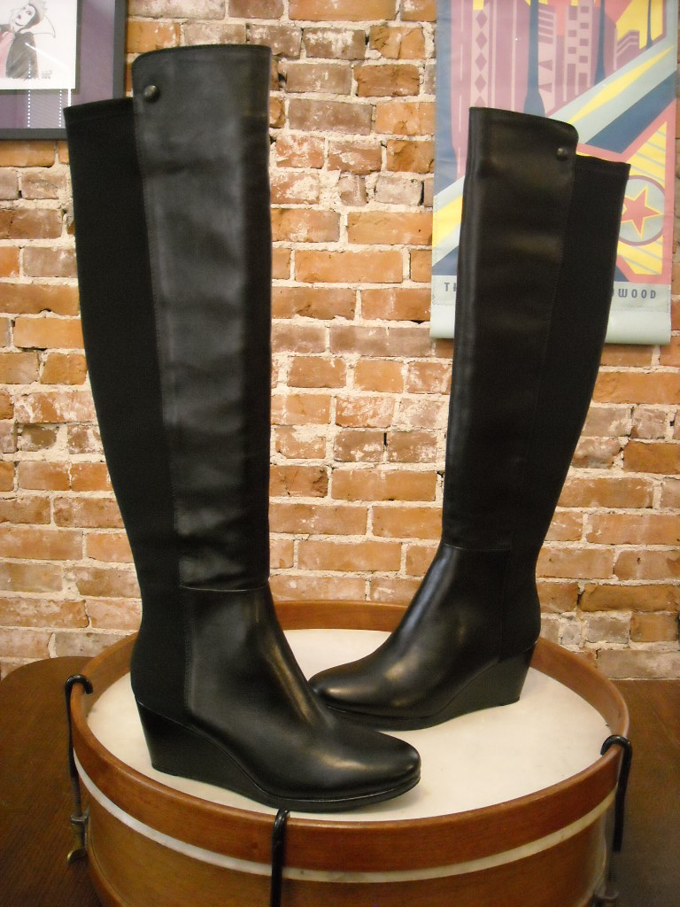 Black Over The Knee Wedge Boots | eBay
