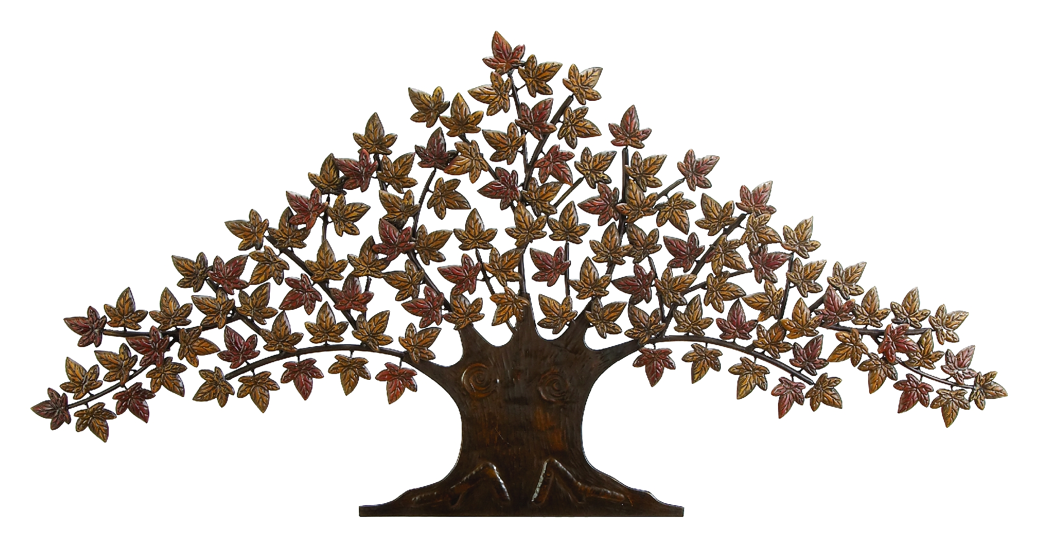 New lone tree metal wall art decor sculpture 24 x48 ebay for Bronze wall art