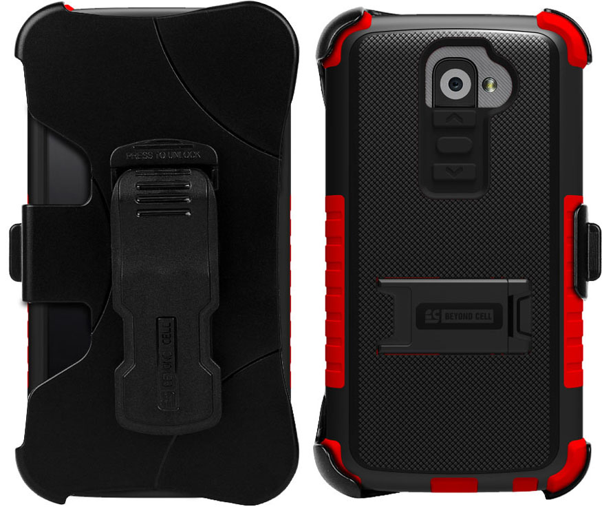 RUGGED TRI-SHIELD KOMBO CASE SKIN COVER BELT CLIP HOLSTER STAND FOR LG G2 PHONE