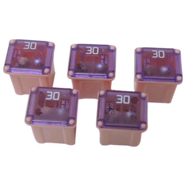SBFC-LPJ Type 30 Amp Cartridge Fuse 5-Pack Slow Blow Pink