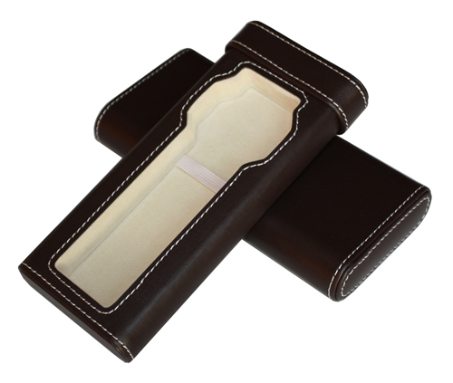 TIMELYBUYS Brown Leatherette Cigar Style Travel Watch Case Storage Holds Watch Up to 52mm at Sears.com