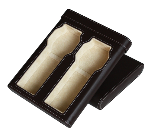 TIMELYBUYS Brown Leatherette Cigar Style Double Travel Watch Case Storage Holds 2 Watches Up to 52mm at Sears.com
