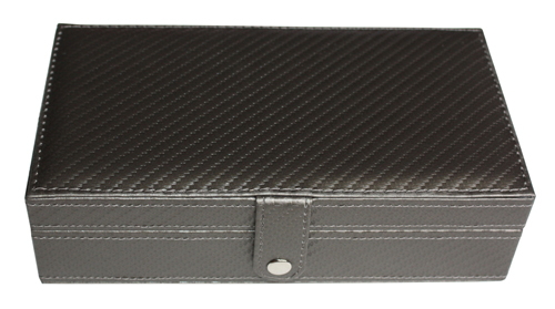 TIMELYBUYS 14 Day Pewter Carbon Fiber Large Pill Box Weekly Travel Pill Case Pill Organizer Vitamins Storage Pills at Sears.com