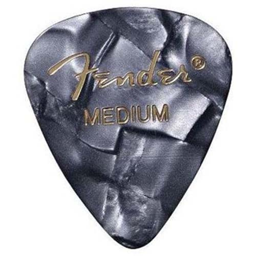 Fender 351 Premium Celluloid Guitar Picks, 12 Pack, Black Moto, Medium at Sears.com