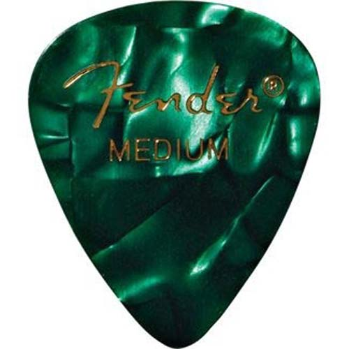 Fender 351 Premium Celluloid Guitar Picks, 12 Pack, Green Moto, Medium at Sears.com