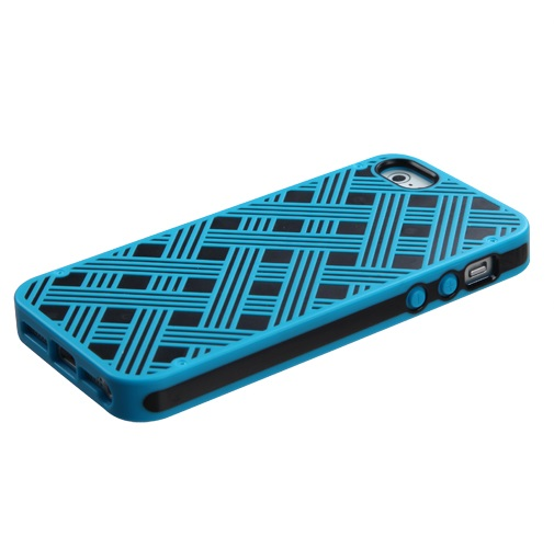 Cross Pattern CO-MOLDED Silicone with Hard Case iPhone 5S/5
