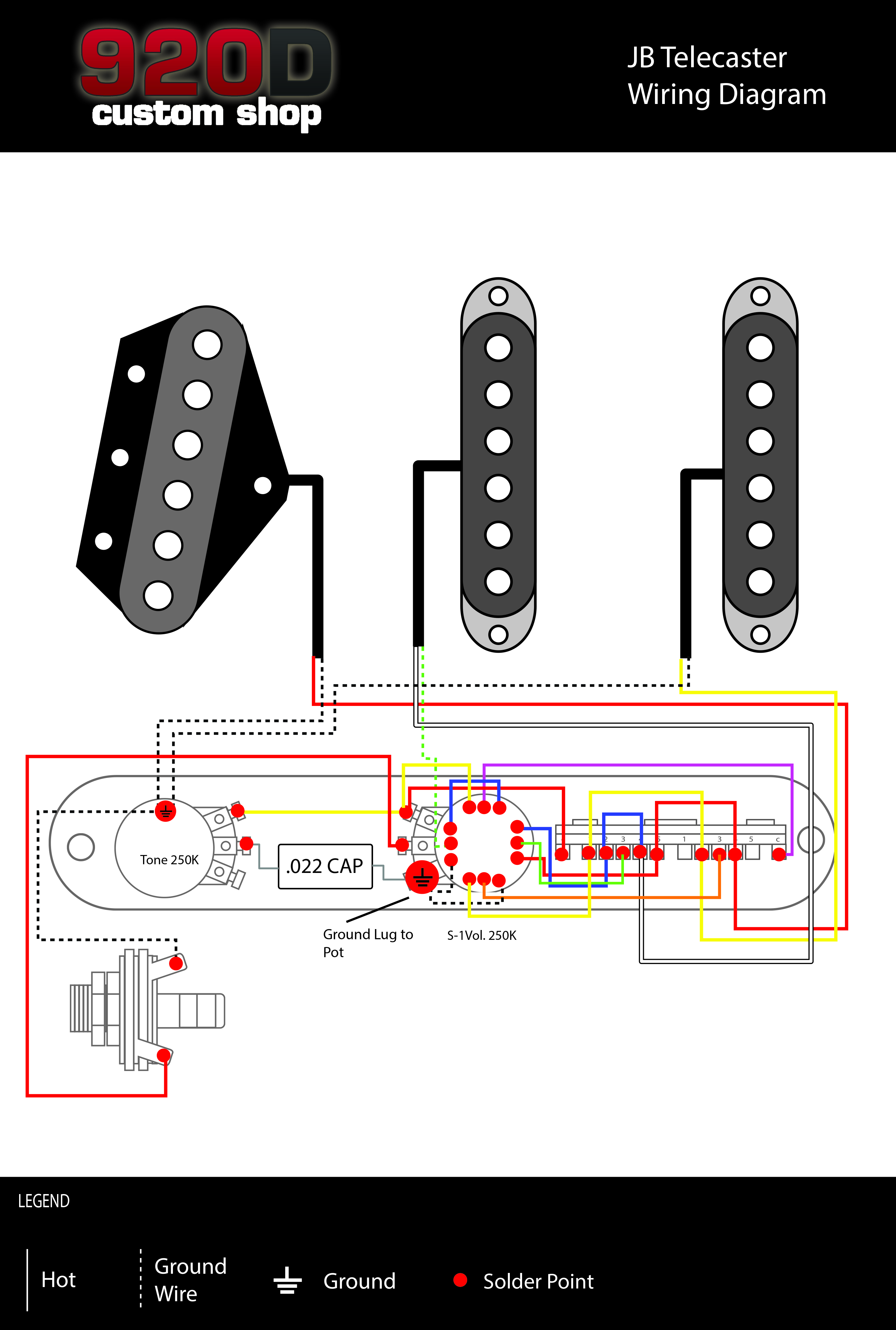 Fender Tele Telecaster James Burton Loaded 5 Way Control Plate With Lace Sensor Wiring Diagram Push