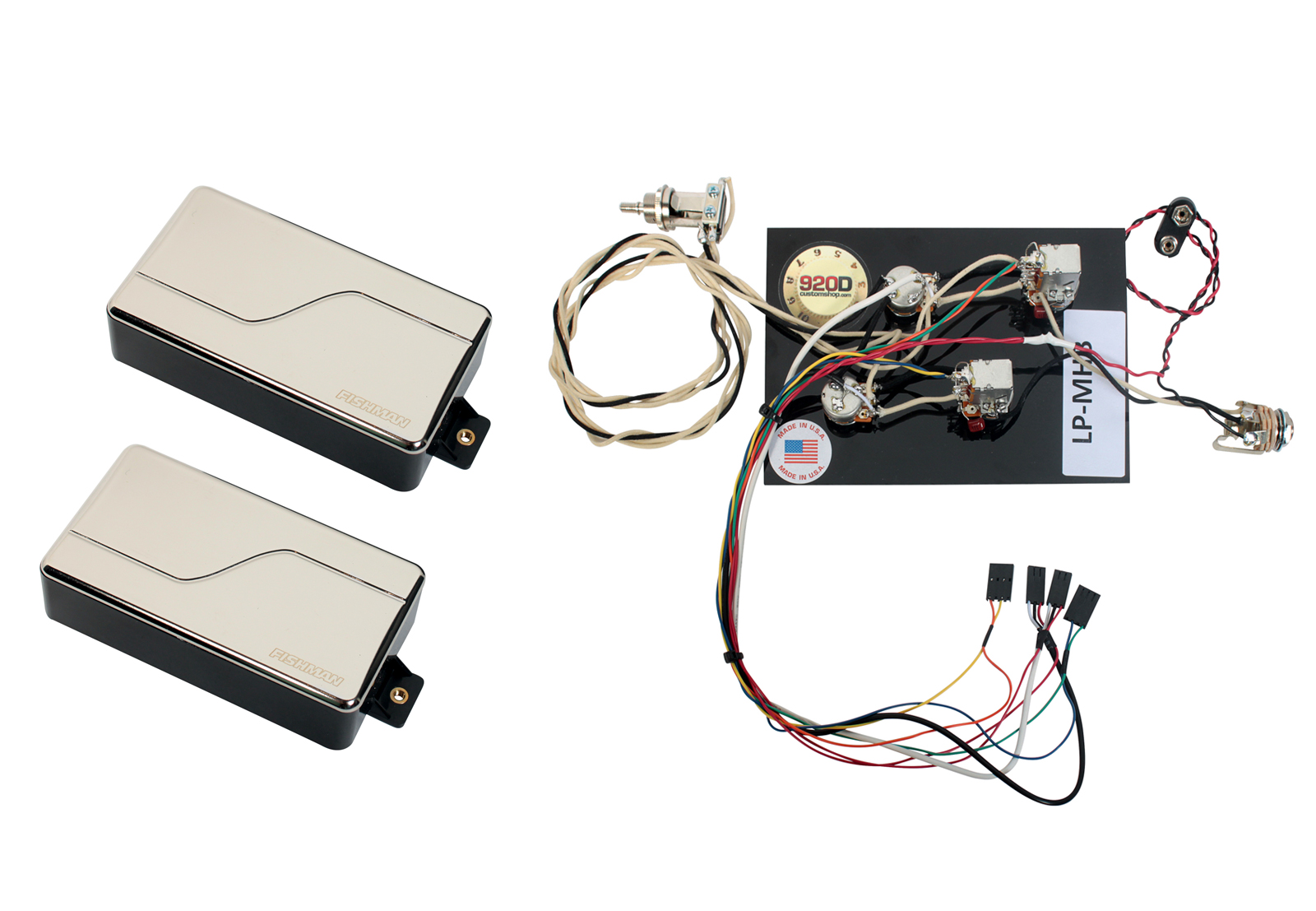 Emg Les Paul Wiring Harness : Fishman fluence modern humbucker pickup set nickel