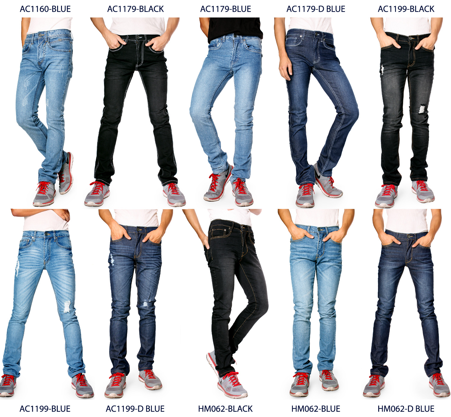 626 Denim Designer Fashion Mens Slim Fit Skinny Jeans Multiple Styles Ebay